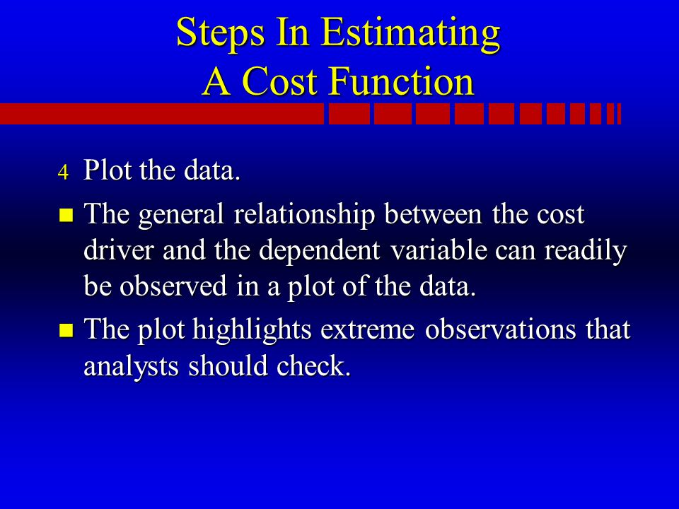 Steps In Estimating A Cost Function 4 Plot the data.