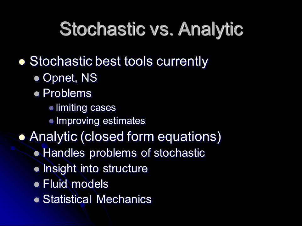 Stochastic vs.