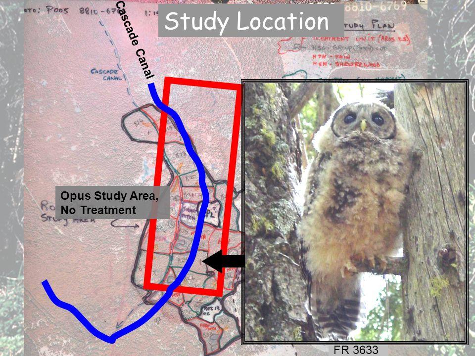 Cascade Canal Opus Study Area, No Treatment FR 3633 FR 200 Study Location