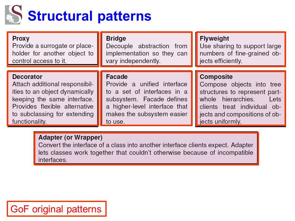 Structural patterns GoF original patterns