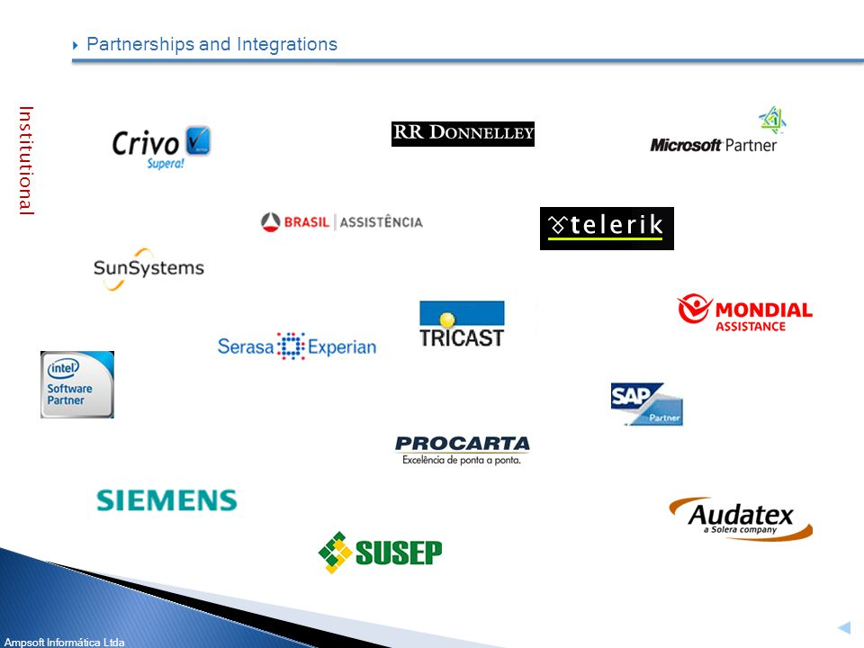 Ampsoft Informática Ltda Partnerships and Integrations Institutional