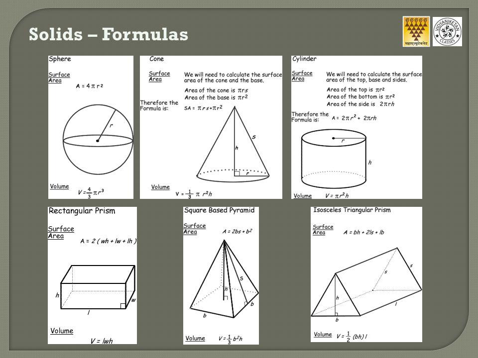 Solids – Formulas