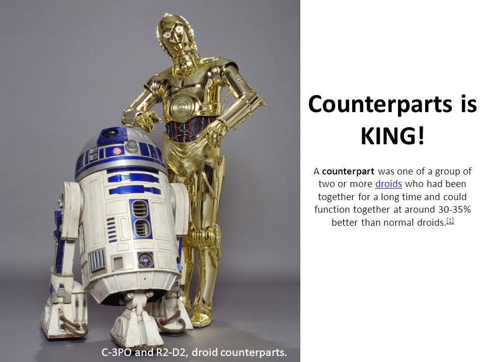 Counterparts is KING.