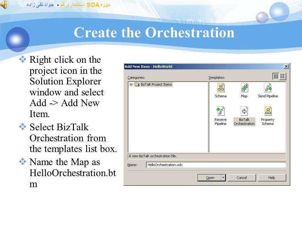 دوره SOA استانداری قم - جواد تقی زاده What Is the Orchestration Designer.