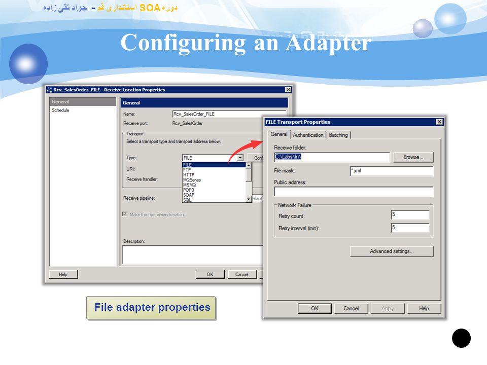 دوره SOA استانداری قم - جواد تقی زاده BizTalk 2010 – Adapters 89 Works for any.Net application!