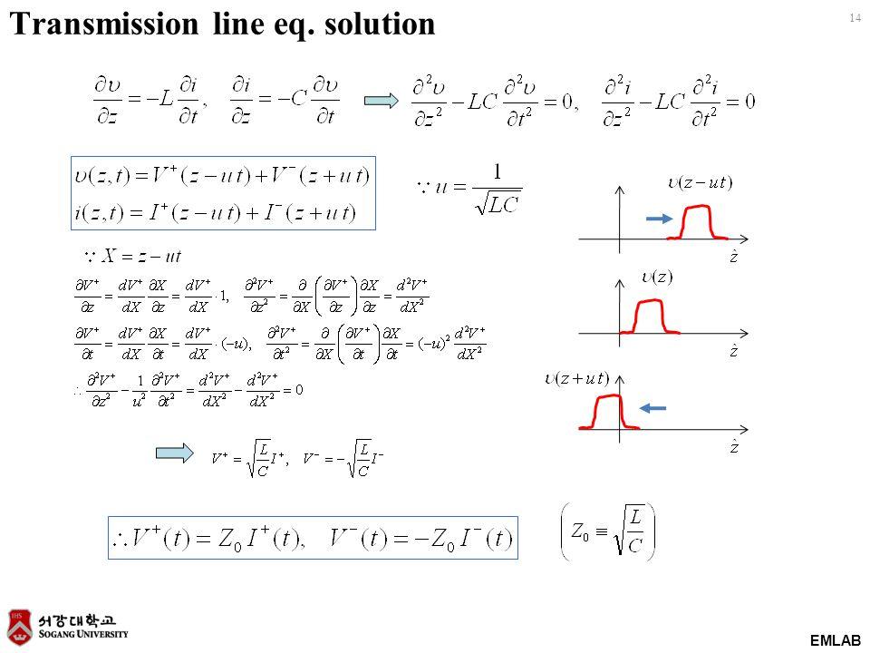 EMLAB 14 Transmission line eq. solution