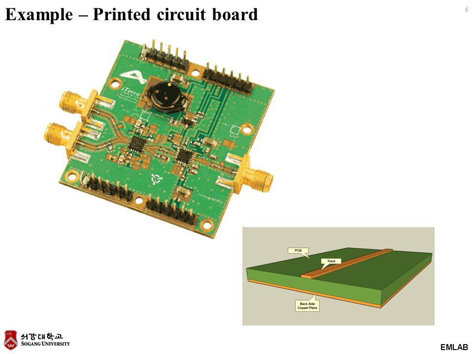 EMLAB 6 Example – Printed circuit board