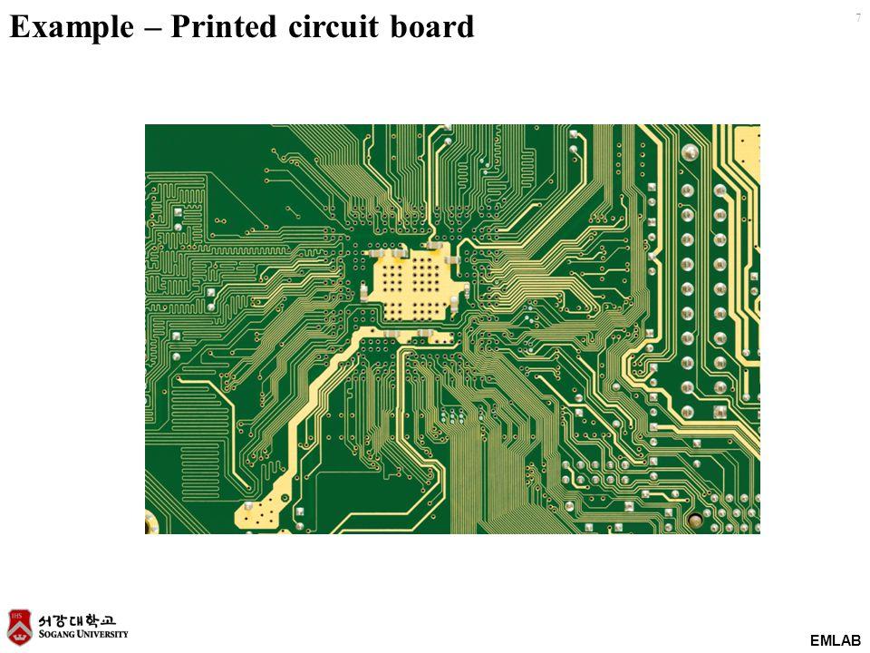 EMLAB 7 Example – Printed circuit board