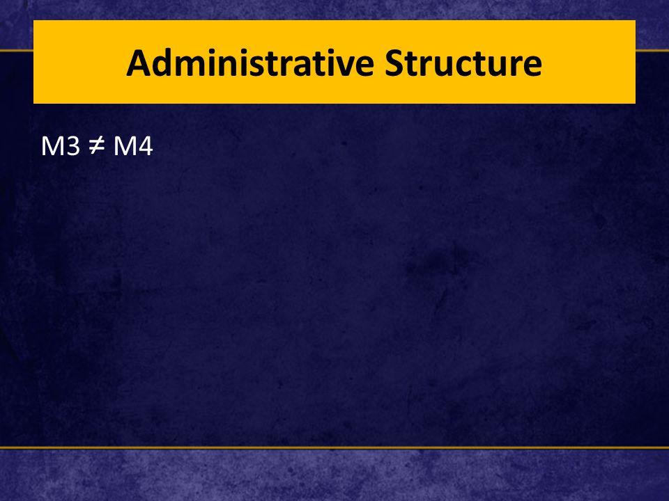 Administrative Structure M3 ≠ M4
