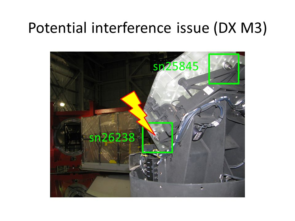 Potential interference issue (DX M3) sn26238 sn25845