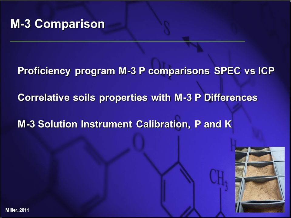 Mehlich 3 K Calibration Evaluation ICP Labs, 16, sorted by mid range standard An evaluation of M3 solutions was conducted in ALP cycle 12, 16 labs participating.