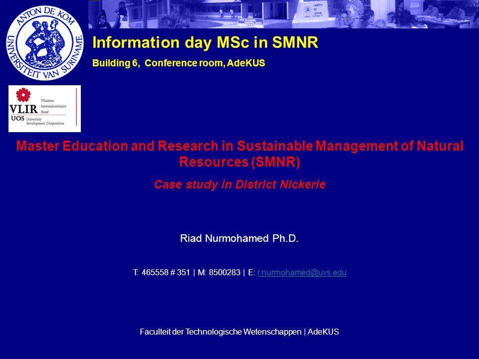 Riad Nurmohamed Ph.D.