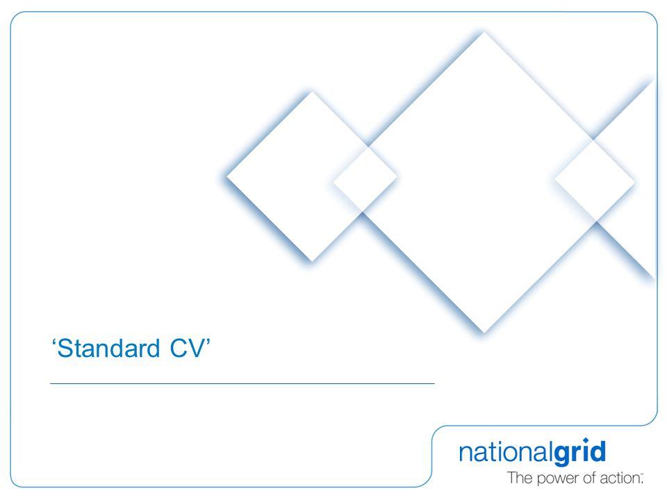 'Standard CV'