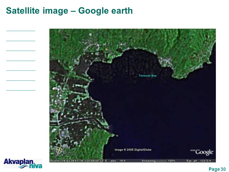 Page 30 Satellite image – Google earth