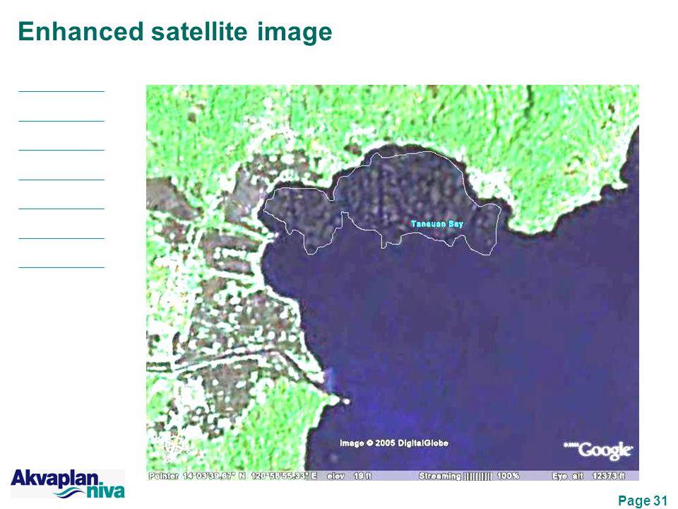 Page 31 Enhanced satellite image