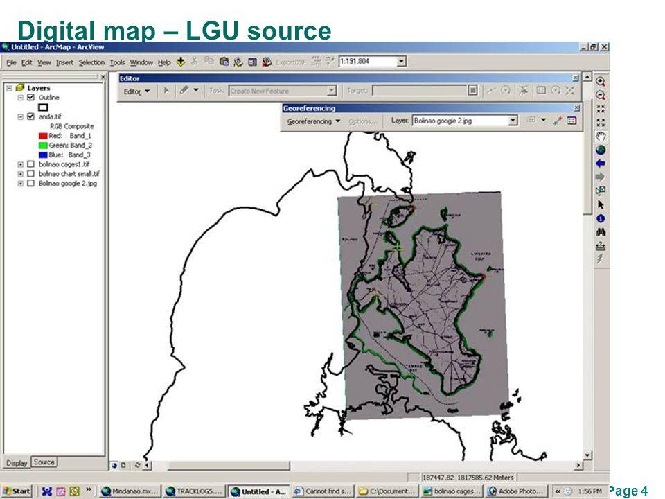 Page 4 Digital map – LGU source