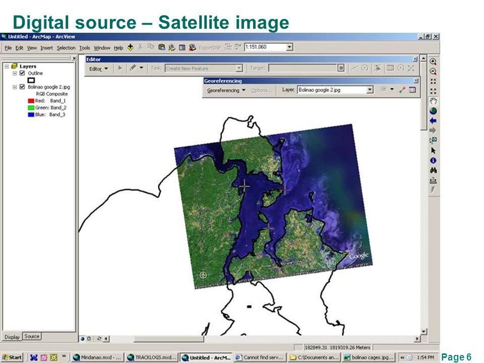 Page 6 Digital source – Satellite image
