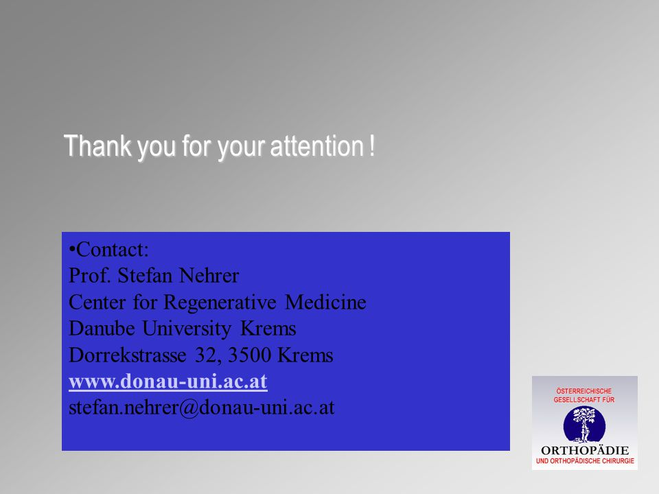 Thank you for your attention . Contact: Prof.