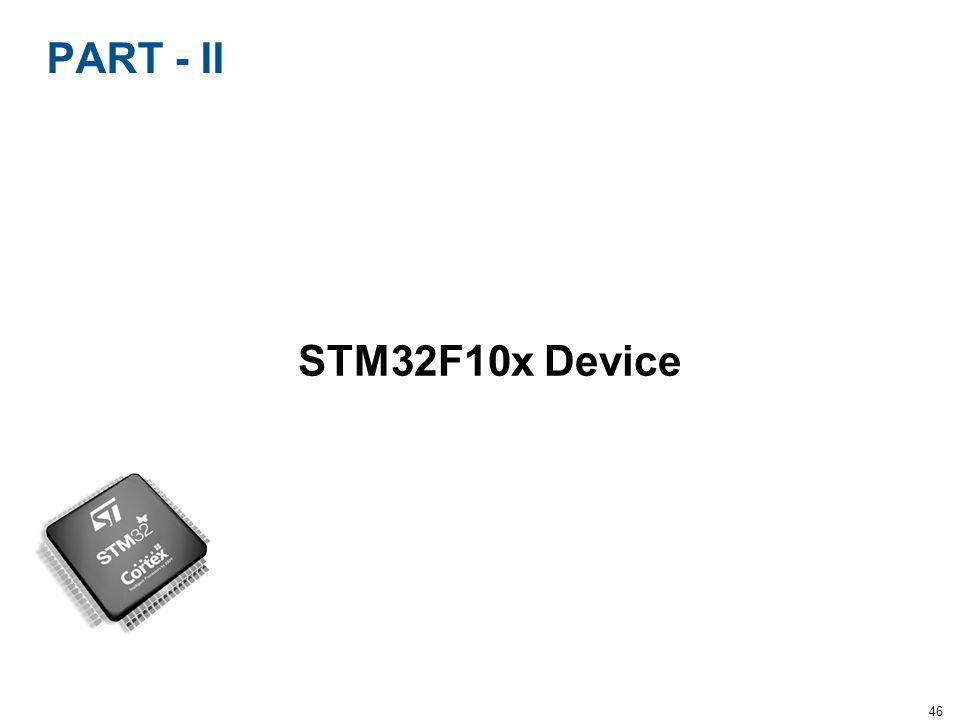 46 PART - II STM32F10x Device