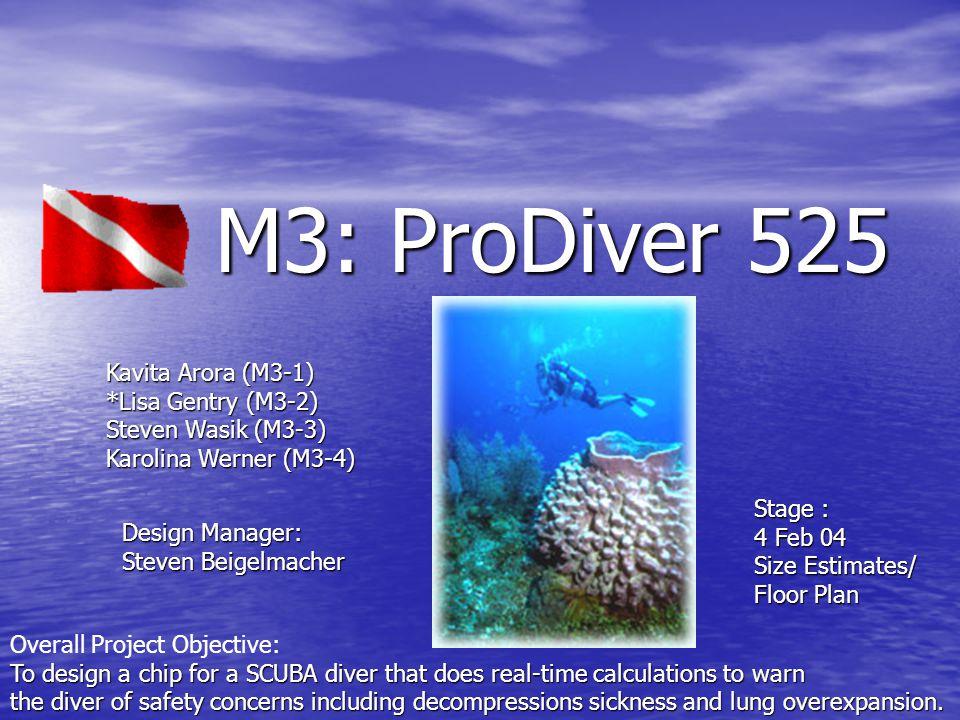 M3: ProDiver 525 Gate Level Schematic - ascensionWatch