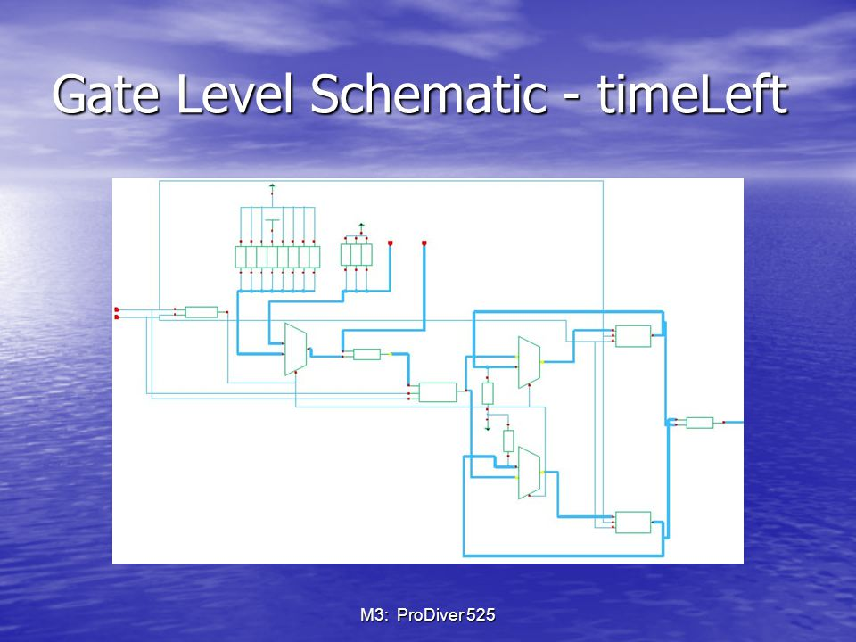 M3: ProDiver 525 Gate Level Schematic - timeLeft