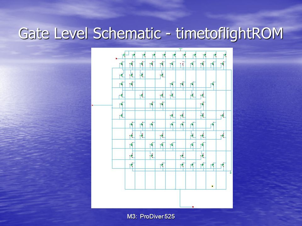 M3: ProDiver 525 Gate Level Schematic - timetoflightROM