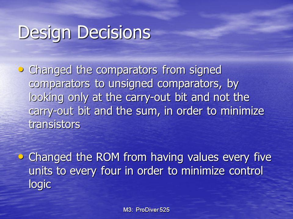 M3: ProDiver 525 New Comparator Layout – comp5bit