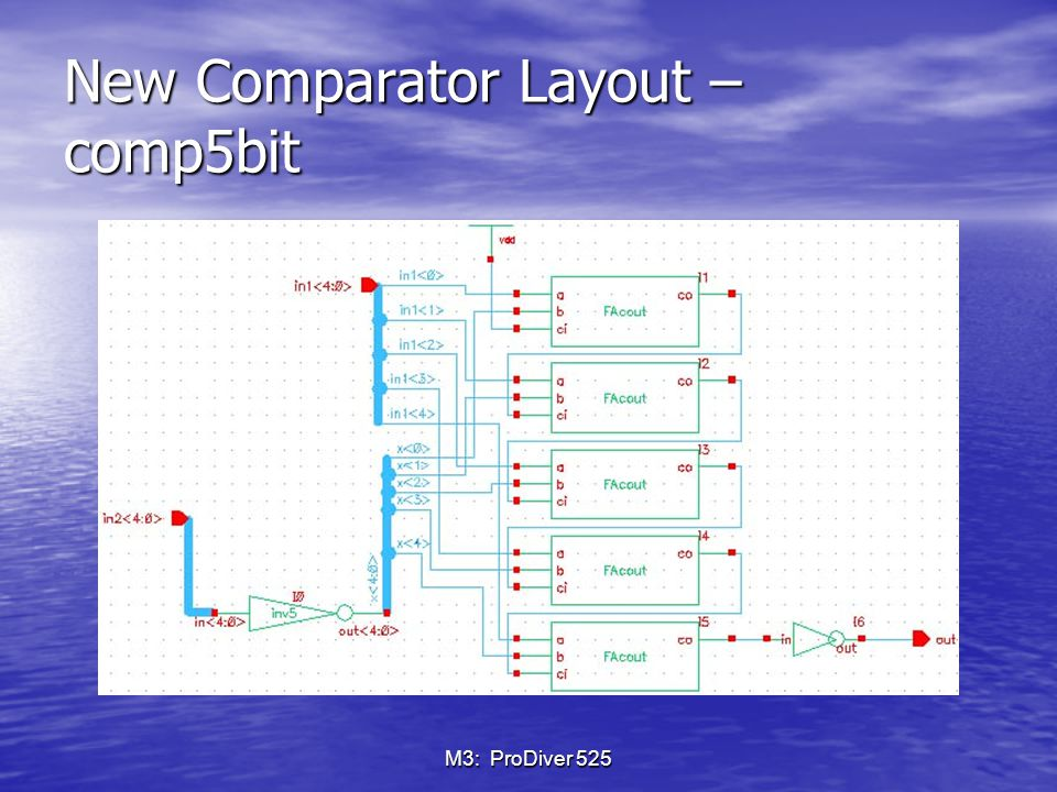 M3: ProDiver 525 New Comparator Layout – comp5bit