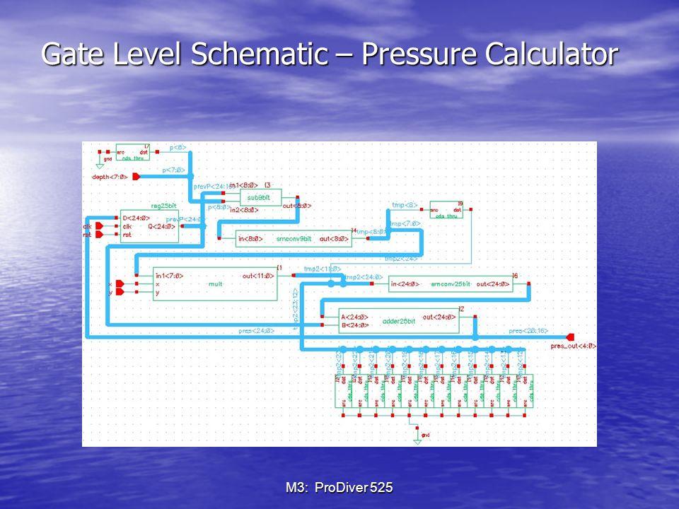 M3: ProDiver 525 Gate Level Schematic – bottomTime