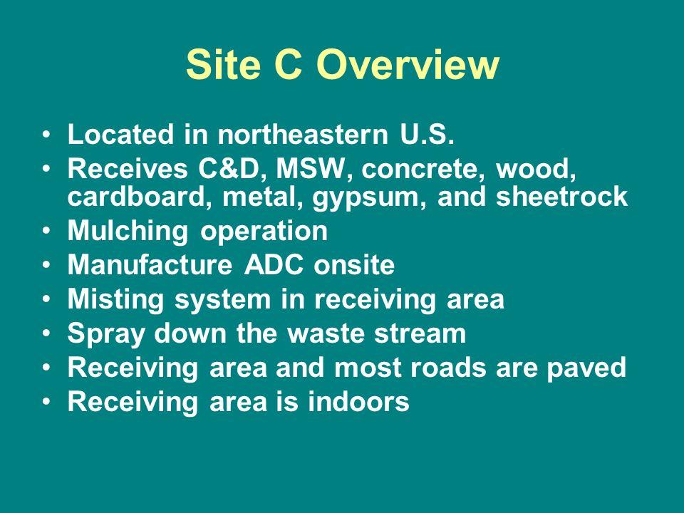 Site C Overview Located in northeastern U.S.