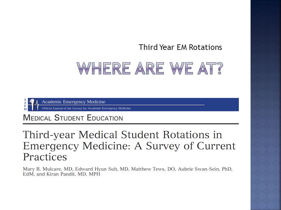 Third Year EM Rotations