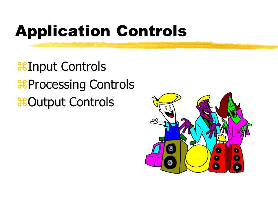 Application Controls zInput Controls zProcessing Controls zOutput Controls
