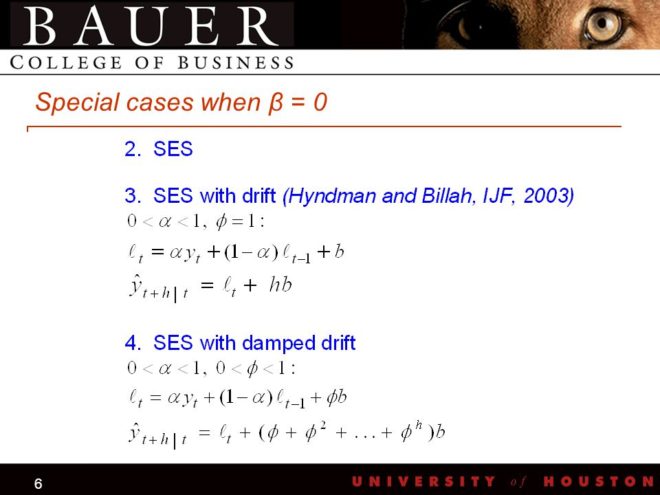 6 Special cases when β = 0