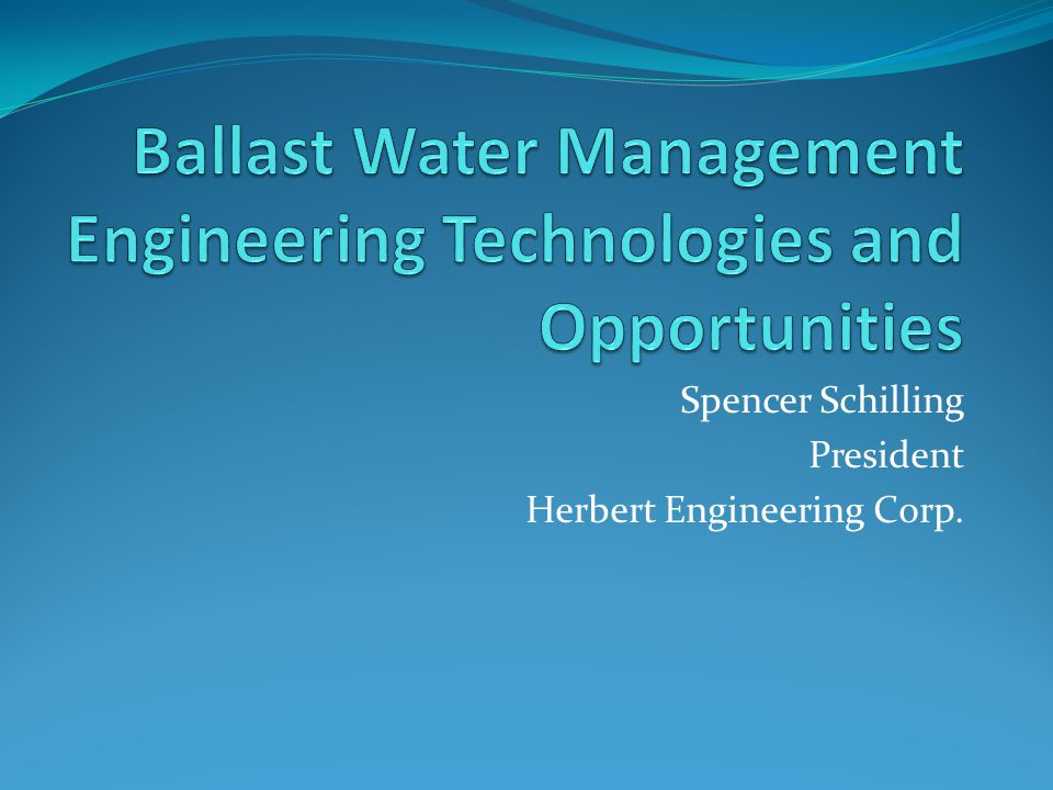 Spencer Schilling President Herbert Engineering Corp.