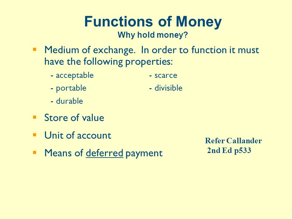Money Creation  The creation process –bank asset & liability growth  Limits on natural growth –Daily settlement –Government does not create money –Government flows offset  Money and inflation  Money and growth