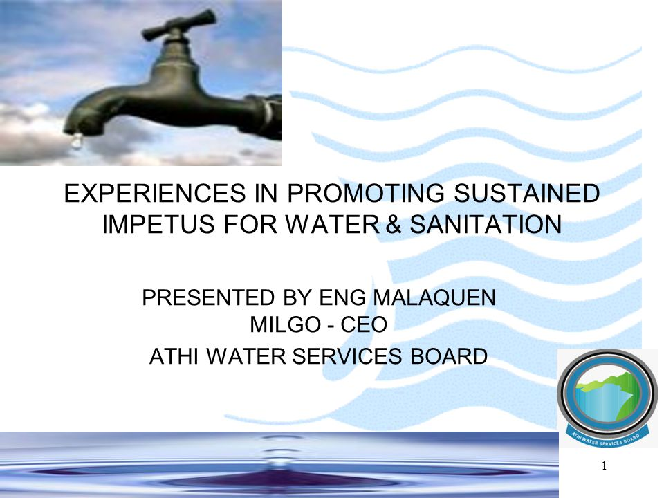 2 VISION A future with reliable, affordable, and safe water and sewerage services that exceed our customers' expectations MISSION To improve the quality of life of our community by ensuring access to safe water and sewerage services.