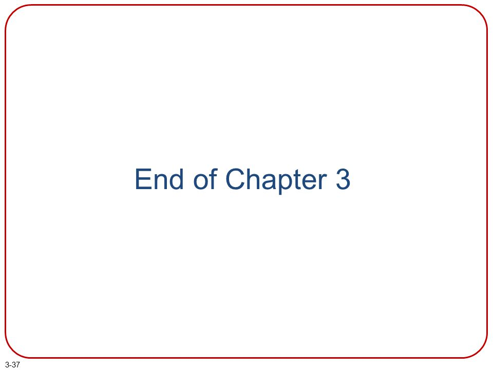 3-37 End of Chapter 3