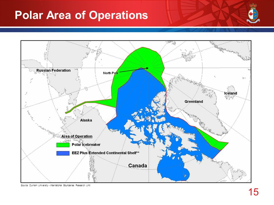 15 Polar Area of Operations Source: Durham University - International Boundaries Research Unit