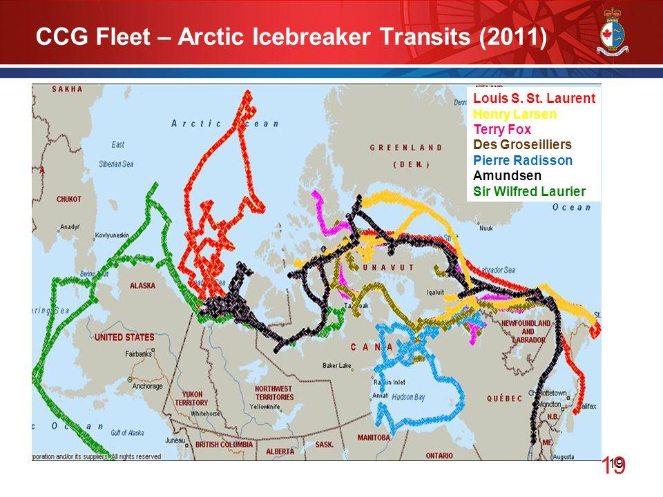 19 CCG Fleet – Arctic Icebreaker Transits (2011) Louis S.