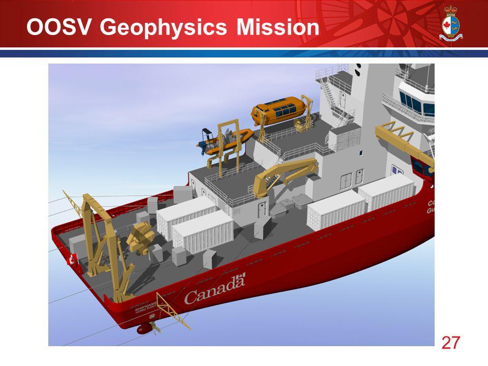 27 OOSV Geophysics Mission