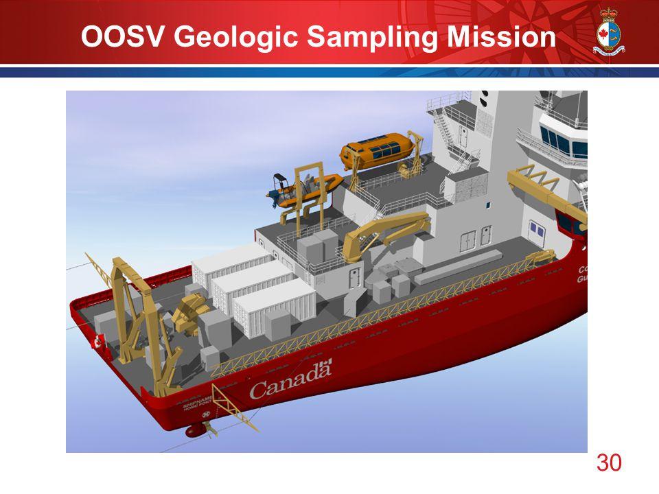 30 OOSV Geologic Sampling Mission