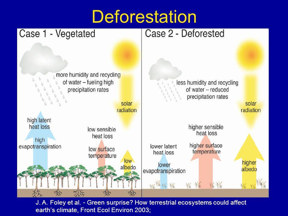 Deforestation J. A. Foley et al. - Green surprise.