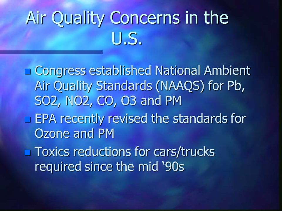 Air Quality Concerns in the U.S.