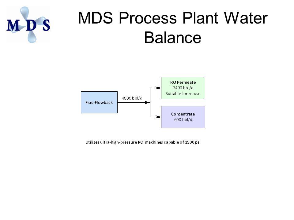 MDS Process Plant Water Balance