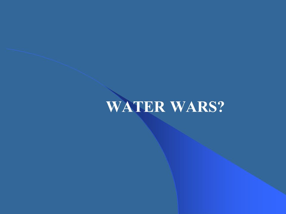 WATER WARS?