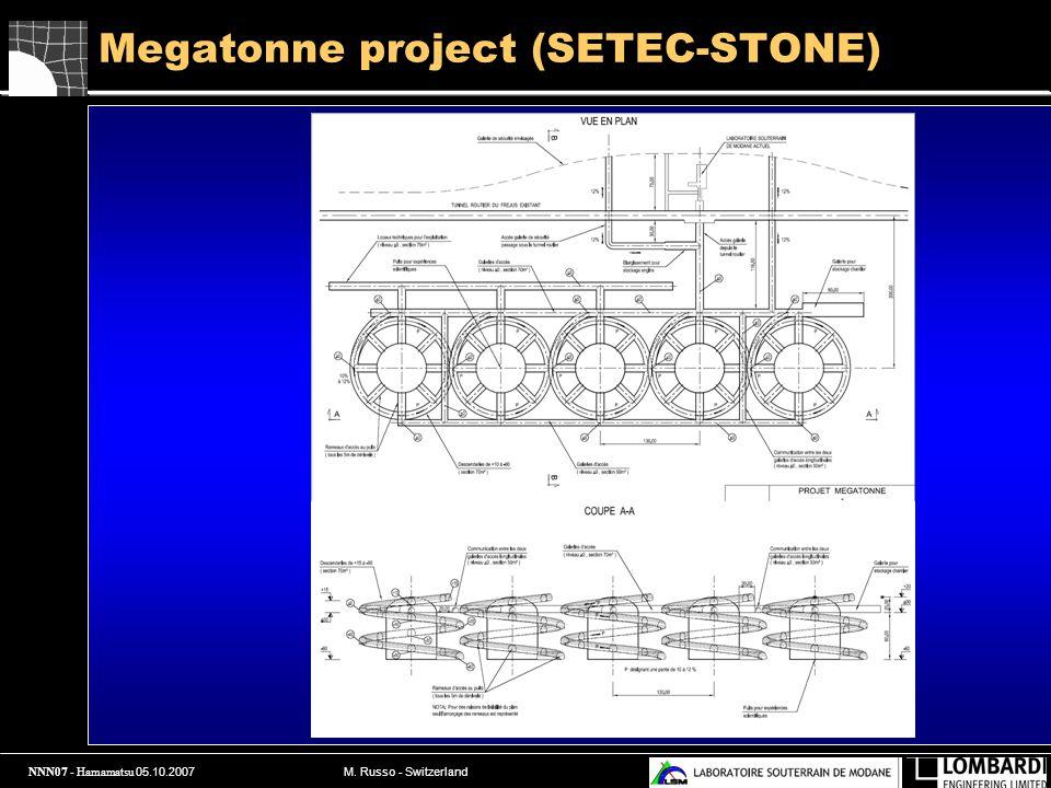 NNN07 - Hamamatsu 05.10.2007 M. Russo - Switzerland Megatonne project (SETEC-STONE)