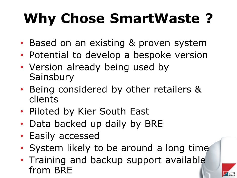 Why Chose SmartWaste .