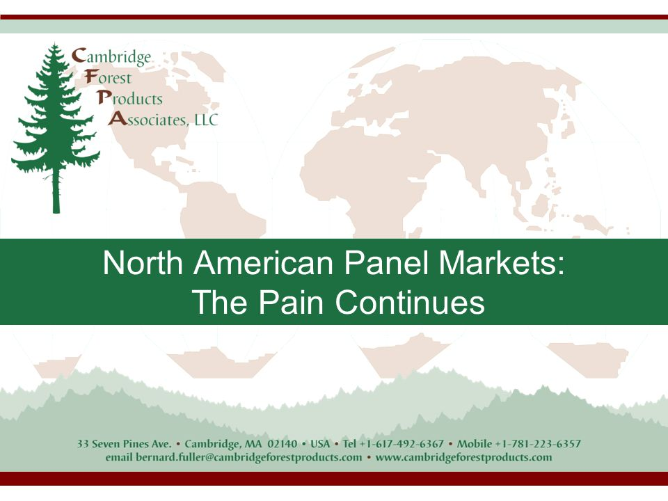 North American Panel Markets: The Pain Continues