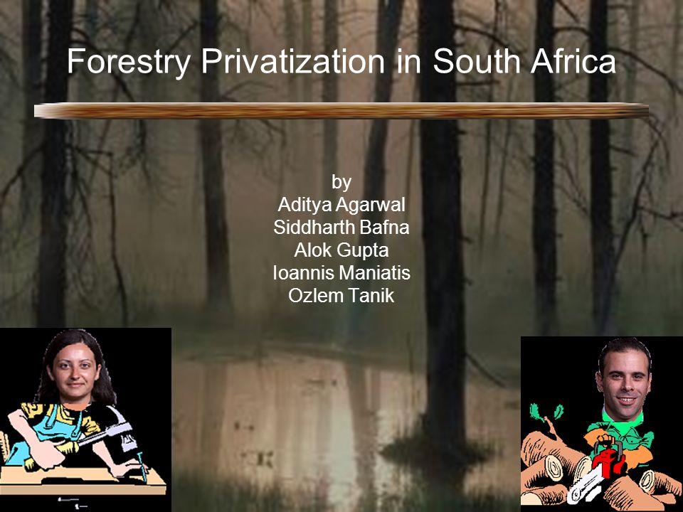 Forestry Privatization in South Africa by Aditya Agarwal Siddharth Bafna Alok Gupta Ioannis Maniatis Ozlem Tanik