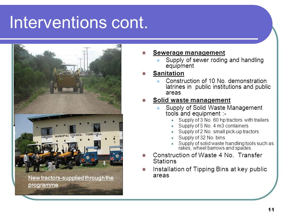 11 Interventions cont.